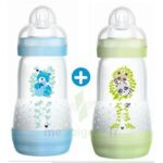 MAM BIBERON EASY START anti-colique 260 ml lot de 2_ BLEU & VERT à Talence