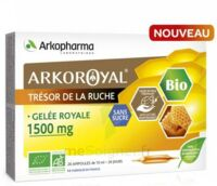 Arkoroyal Gelée royale bio sans sucre 1500mg Solution buvable 20 Ampoules/10ml à Talence