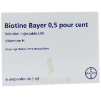 Biotine Bayer 0,5 Pour Cent, Solution Injectable I.m. à Talence